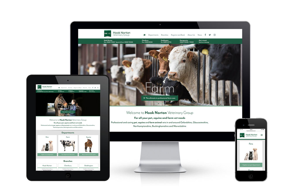 Hook Norton Veterinary Group website image