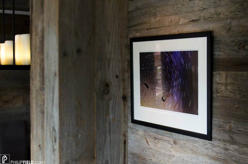 Star Trail image hanging in Richard Branson's Verbier Lodge