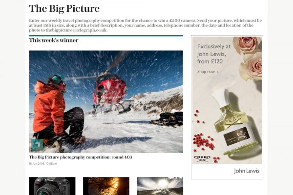 The Daily Telegraph Big Picture - Philip Field, winner of round 403