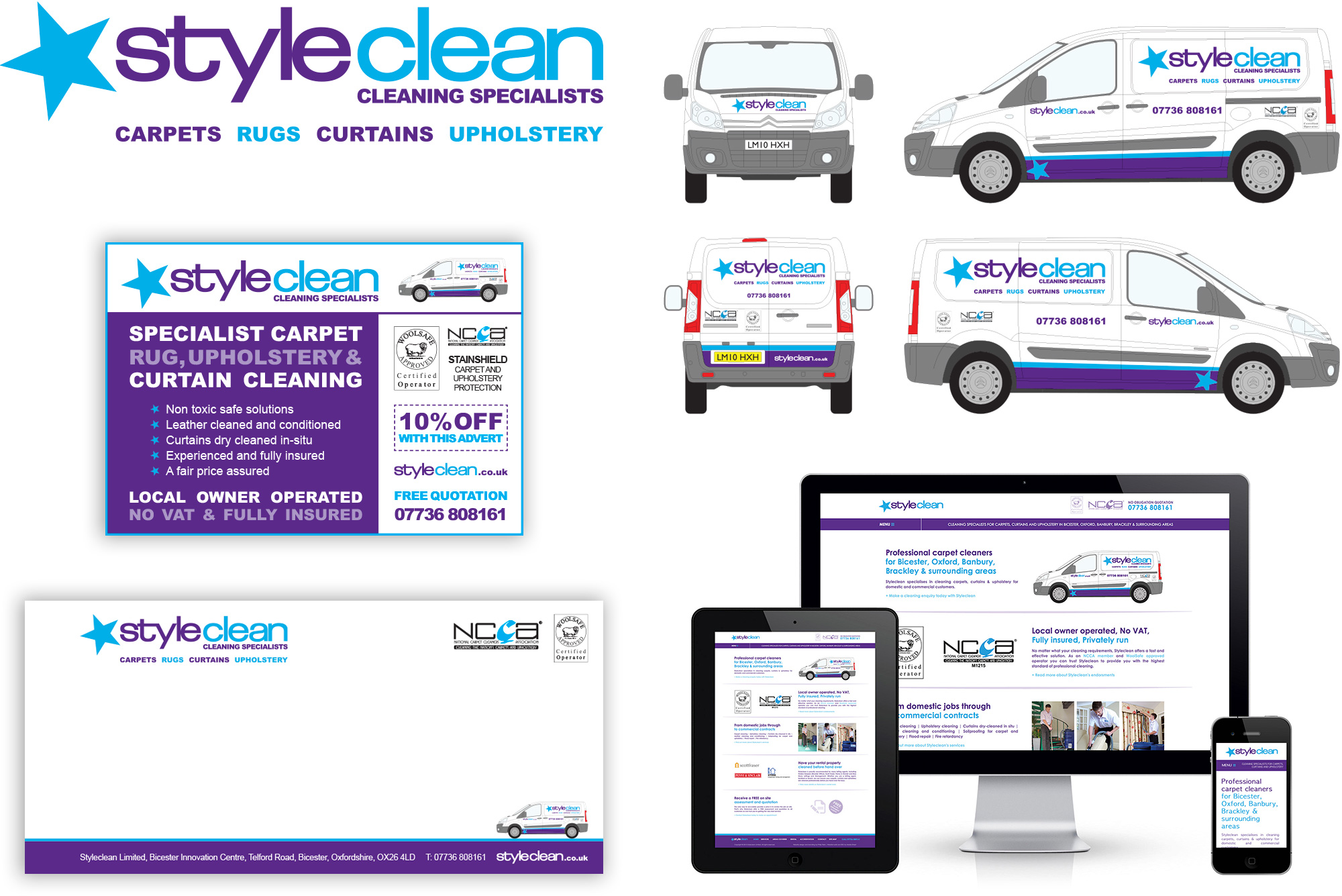 Branding example with Styleclean carpet and upholstery cleaning business