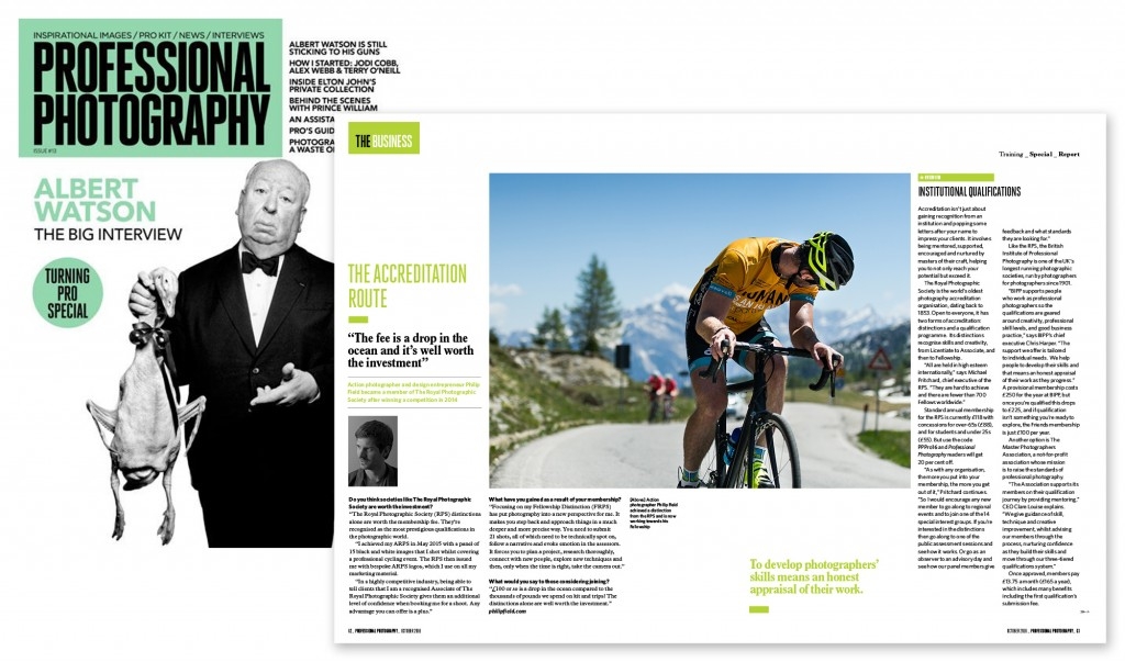 Image showing article in Professional Photographer magazine