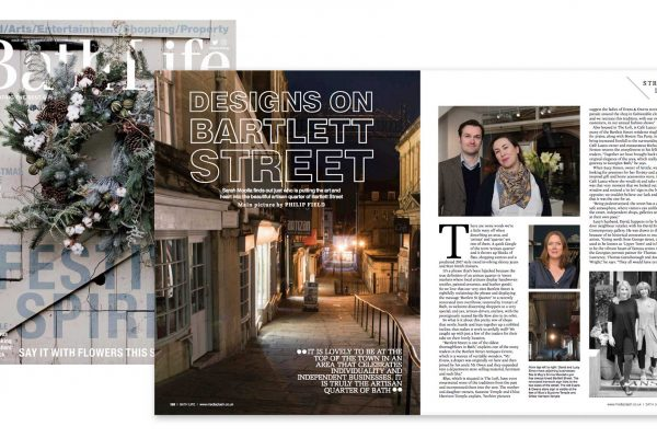 Images laid our in Bath Life magazine