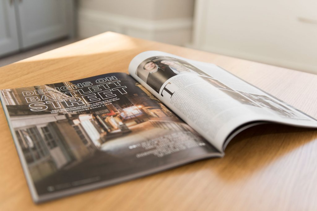 Photograph of Bath Life magazine and article