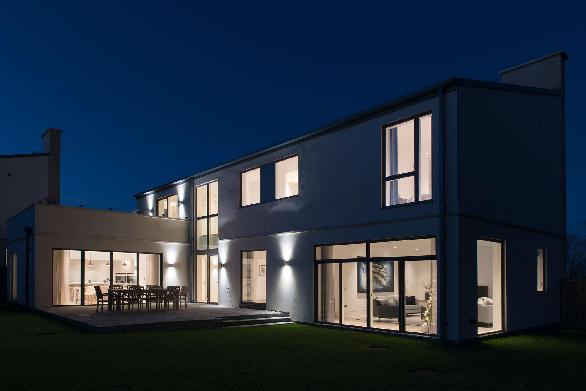 Night image of Tadwick House at Lansdown Fields, Bath