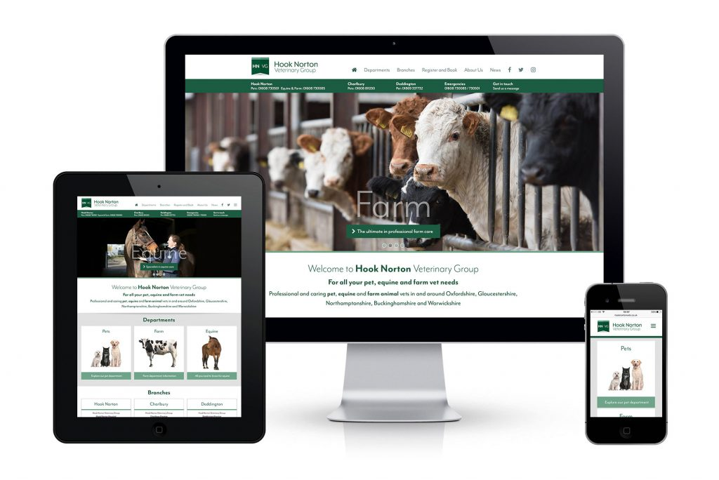 Hook Norton Veterinary Group website