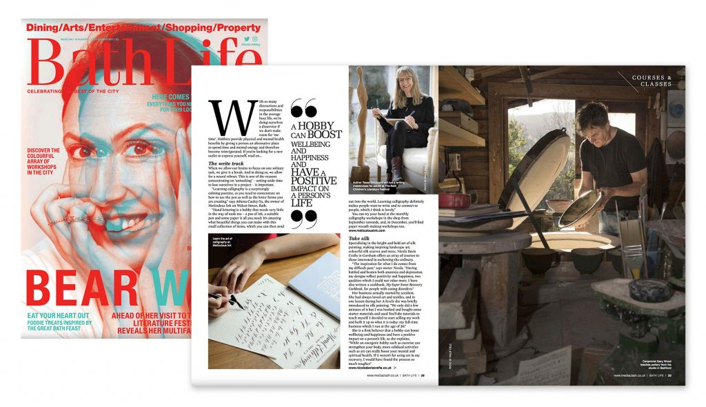 Press cutting from Bath Life Issue 346