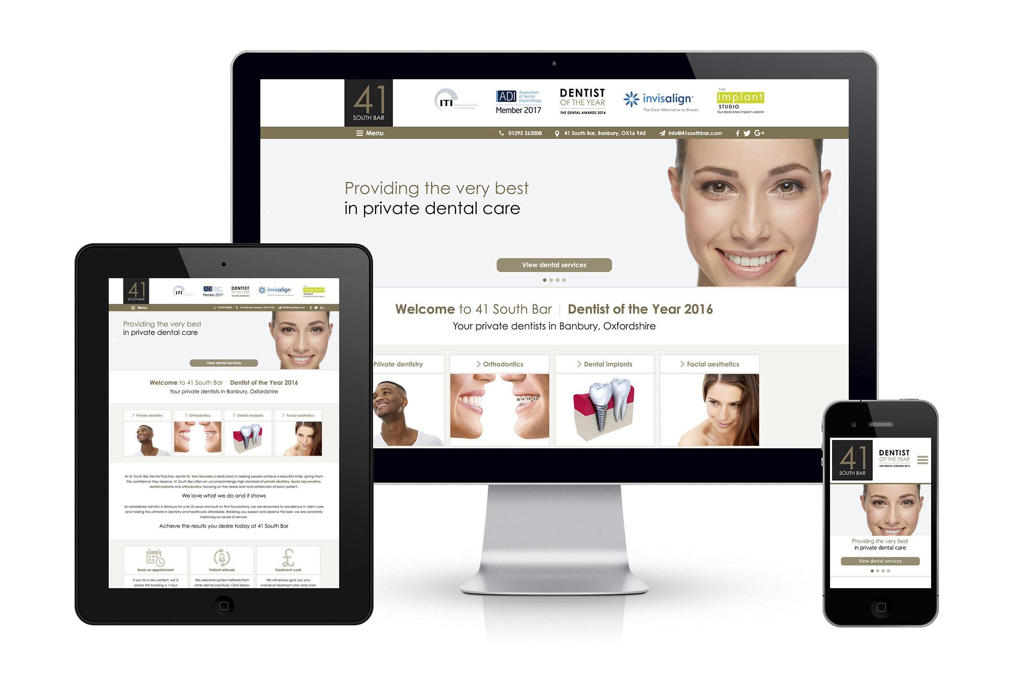 41 South Bar dental website