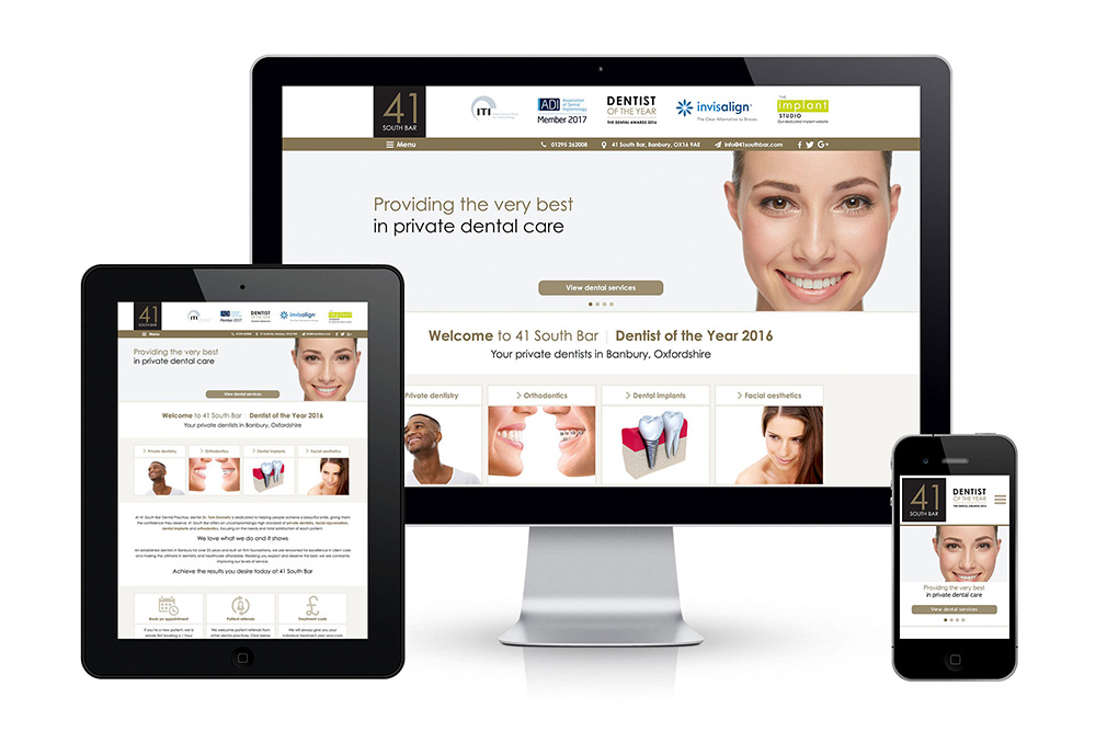 41 South Bar dental website - featured image