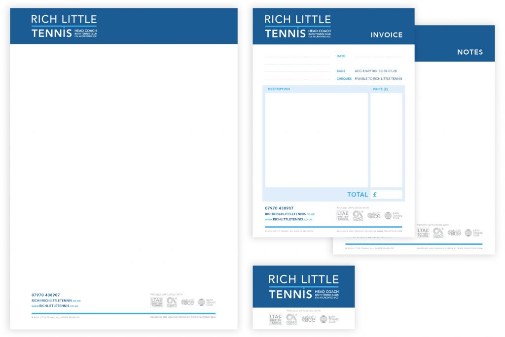Rich Little Tennis stationery