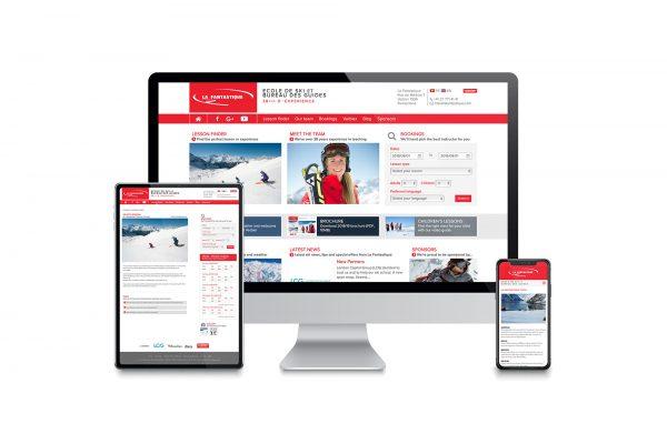 La Fantastique Ski School - Website design