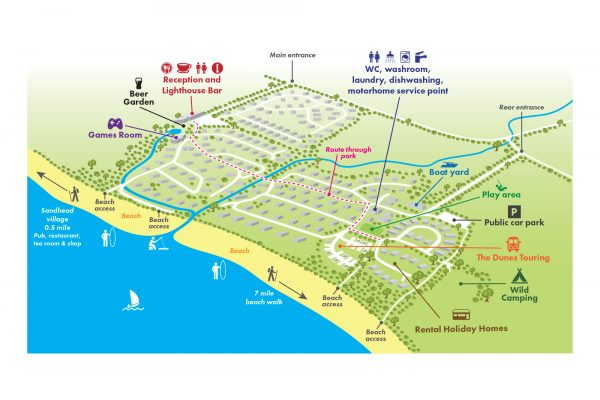Sands of Luce Holiday Park - Park Map