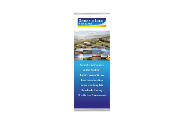 Sands of Luce Holiday Park - Pop-up display banner