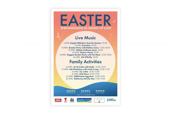 Sands of Luce Holiday Park - Poster to advertise easter events