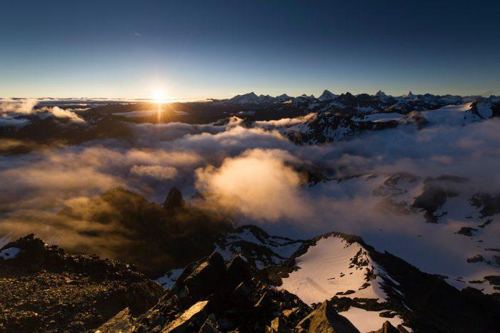 Mont Fort sunrise, Verbier, Switzerland