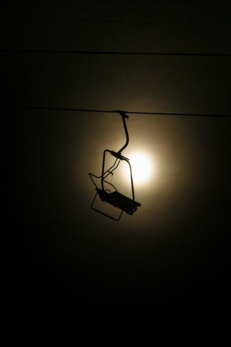 Midnight charlift, Verbier