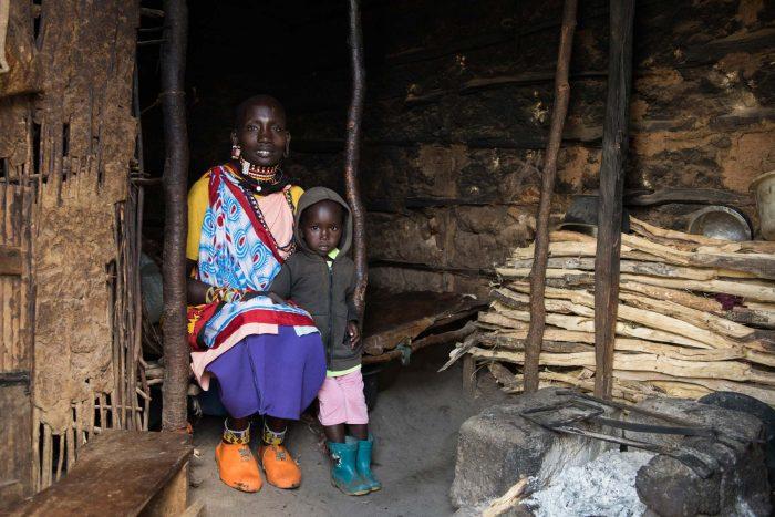 Maasai women with child, Tanzania