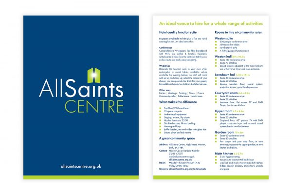 All Saints Centre - Leaflet
