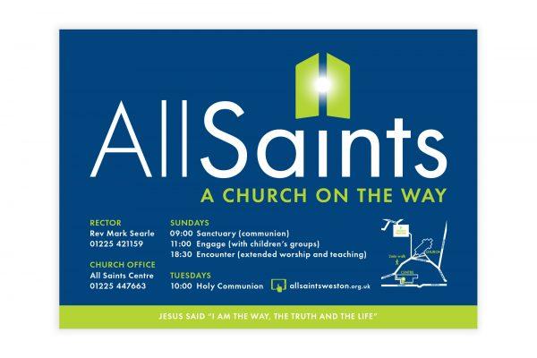 All Saints Weston - Church Signage