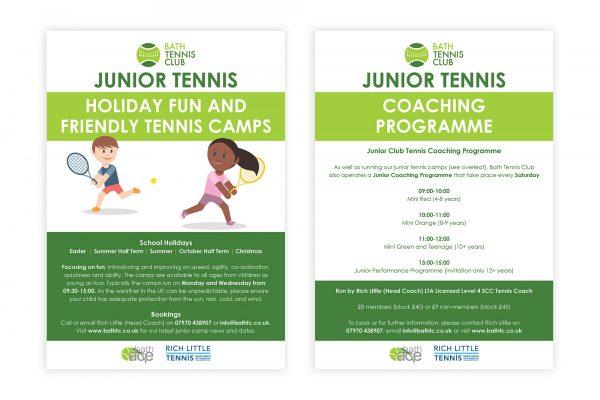 Bath Tennis Club - Kids Camp Flyer (A5)