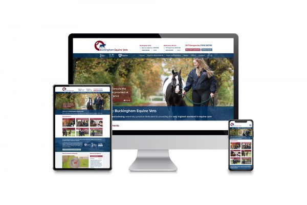 Buckingham Equine Vets - Website design