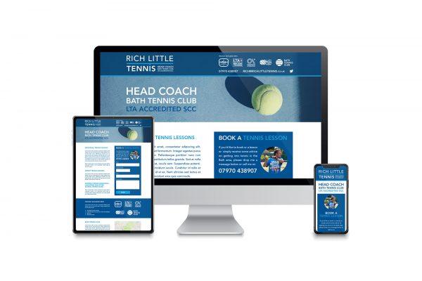 Rich Little Tennis - Website design