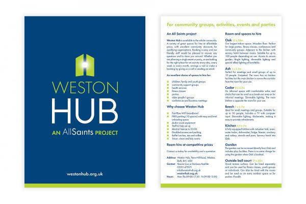 Weston Hub - A5 Leaflet