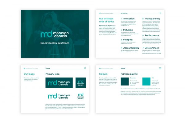 MannionDaniels - Brand guidelines