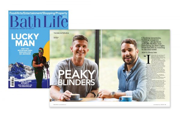 Portrait photography - Ed Jackson and Olly Barkley for Bath Life (Issue 402)